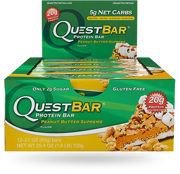 Quest Bar 60g Chocolate Peanut Butter - best before 06.08.2017